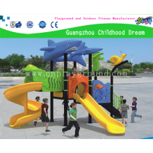 Small Commercial Outdoor Playground Equipment with Sea Animal Cartoon From China Factory