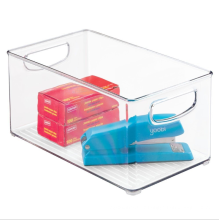 High Quality Sustainable Transparent Organizer Bin Acrylic Clear Plastic Storage Bin for Food,Refrigerator