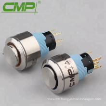 DC 12V 1NO 1NC Illuminated Momentary Square Push Button Switches ( Dia:22)