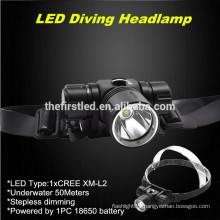 JEXREE 1xCree XM-L2 Waterproof Led headlight with 18650 battery