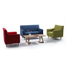 Tecido de sala de estar 1 + 2 + 3 set de sofá
