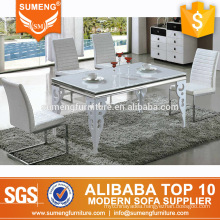 fashionable luxury marble top 6 seater dining room set