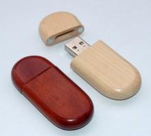 लेजर लोगो उपलब्ध के साथ आयताकार लकड़ी USB फ्लैश