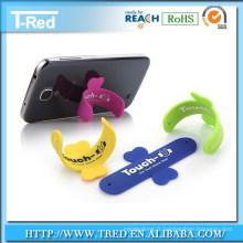 support de téléphone de silicone de contact-u avec toutes sortes de couleur avec le paquet de ventes au détail