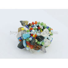 Mix Chip Stretch Seed Perles de verre Ring