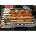 Belüftete Bodenfutter Aluminiumfolie BBQ Grillpfanne Aluminiumfolie Pfanne mit Löcher Herstellung