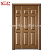la porte de porte de mère et de fils de haute qualité conçoit une porte en acier de feuille de porte et demi