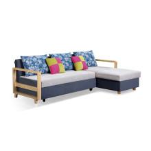 Modern Corner Fabric Sofa Bed