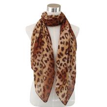 Lady Fashion écharpe en voile de coton imprimé léopard (YKY4074-1)