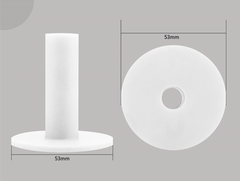 White Golf Rubber Tees 9