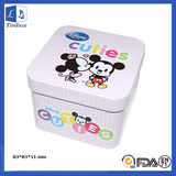 Square Luxury Watch Tin Box With Insert
