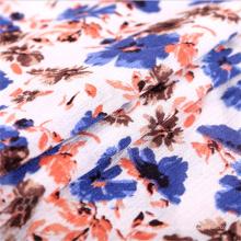 Vestido estampado Flora 100 Tela de crepé de licra y viscosa