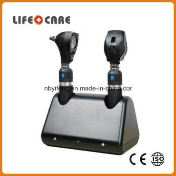 Ensemble de diagnostic médical rechargeable avec ophtalmoscope et otoscope