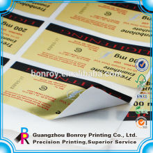 Preiswerter kundenspezifischer Hologrammaufkleber mit kundenspezifischem Logo in der silbernen Folie