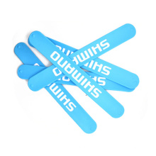 Рекламные дешевые пользовательские силиконовые пощечины браслет