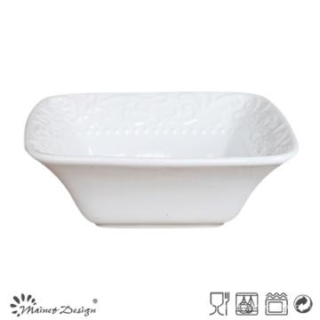 Bacia quadrada branca da faiança cerâmica
