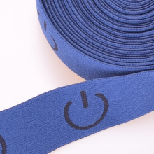 Thin Blue Colored Dacron/Nylon/Cotton Strap Elastic for Climbing