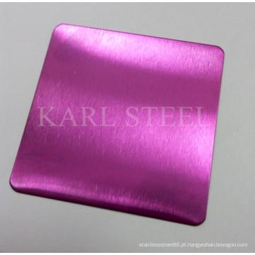 Folha de cor de aço inoxidável de alta qualidade 430 para materiais de decoração