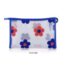 Lady Fashion Flower Printed Clear PVC Cosmetic Clutch Bag (YKY7533-4)