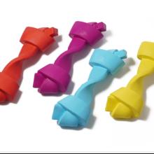 Brinquedo para animais de estimação não tóxico para limpeza de dentes e osso de borracha natural