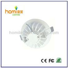 5W teto luz branca impressão alumínio