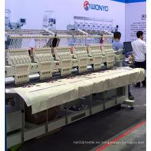 Máquina de bordado de 6 cabezales para prendas de vestir acabadas con capucha Wy906 / 1206c