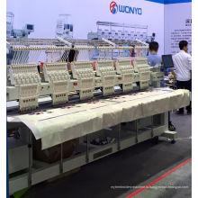 6 Головная вышивальная машина для футболки с капюшоном Готовая одежда Wy906 / 1206c