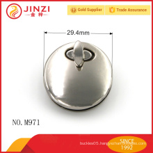 Round shape lock nickle color lock bag parts