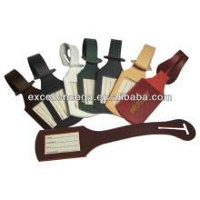Étiquettes à bagages en cuir en vrac de haute qualité