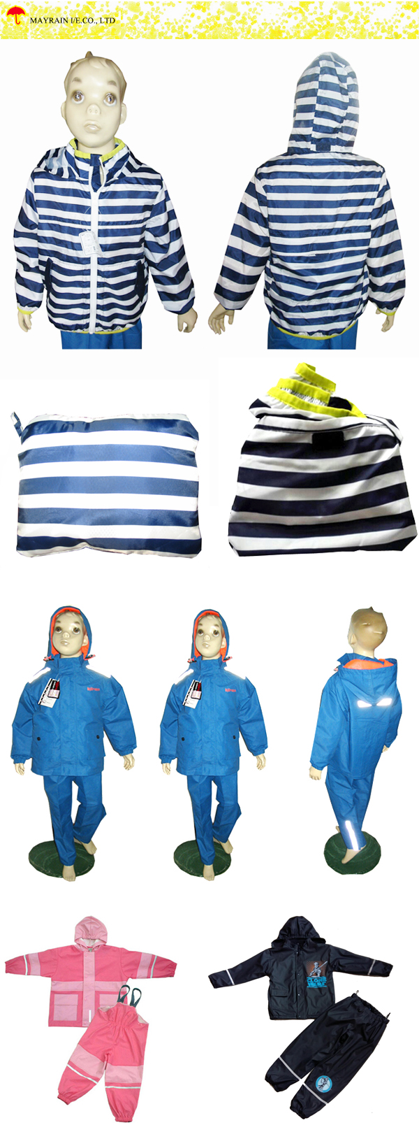 Kids Polyester Rainsuit