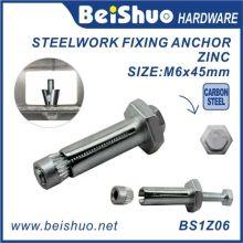 Boulon Hex à fixation en acier M6X11X45mm pour construction