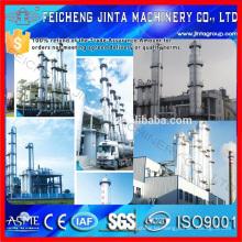 Destilador de acero inoxidable Ingeniería llave en mano Equipo de alcohol / etanol