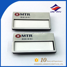 Good grade custom metal name badge for wholesale