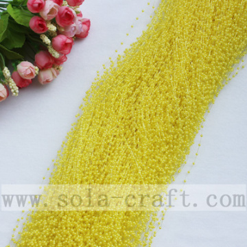Abalorios de Color amarillo brillante de la cadena de perlas Artificial Garland
