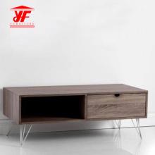 Meuble de coin pour téléviseur en bois avec profil bas en bois