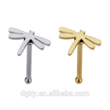 dragonfly nose bone stainless steel plated nose body jewelry