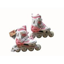Розовый роликовый коньки для детей