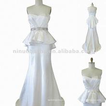 NY-1568 Drapiertes trägerloses Mieder mit einem passenden Bias Skirtwedding Kleid