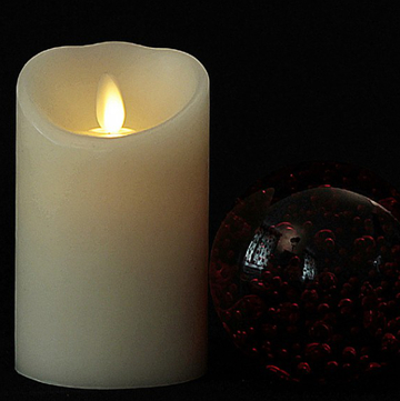 moving flame led wax candle
