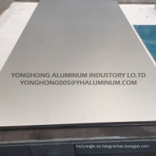 5052 Hoja de aluminio anodizado plata natural para pared, señales de tráfico