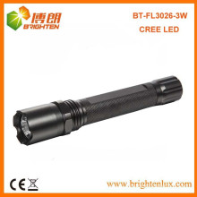 Bulk Verkauf CE Rohs Aluminium cree 3W super helle Polizei führte Taschenlampe mit 2AA Batterie