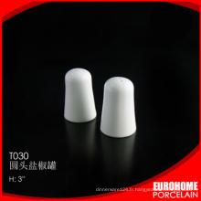 EuroHome restaurant ou maison utiliser shaker de sel poivre en porcelaine porcelaine fine