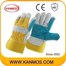 Double Palm Cowhide Split Industrielle Sicherheit Hand Leder Arbeitshandschuhe (110151)