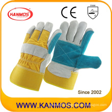 Double Palm Cowhide Split Industrial Safety Hand Leather Work Gloves (110151)