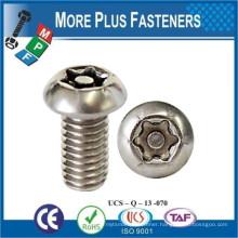 Made in Taiwan Button Head Torx Tamper Cap Screw