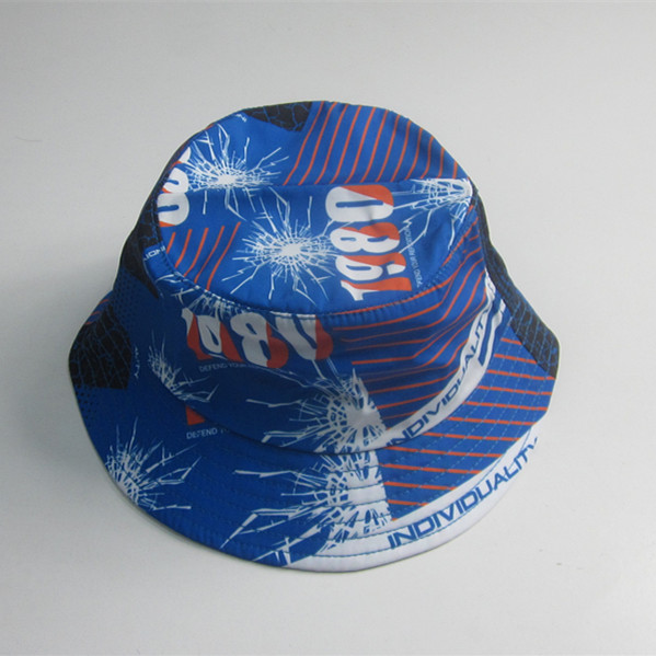 Adult Colorful Print Polyester Bucket Hat