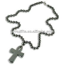 Magnetic Hematite Cross beaded Necklace