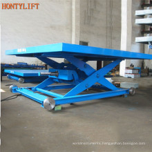 electric hydraulic cargo lift table/small stationary scissor lift