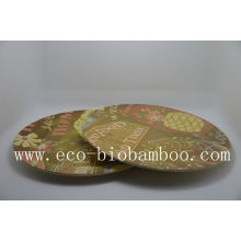 (BC-P1008) Hot-Sell Natural Eco Bamboo Fiber Plate with Printed