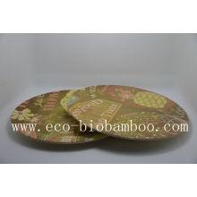 (BC-P1008) Горячая продажа натурального эко волокна Bamboo плита с печатью